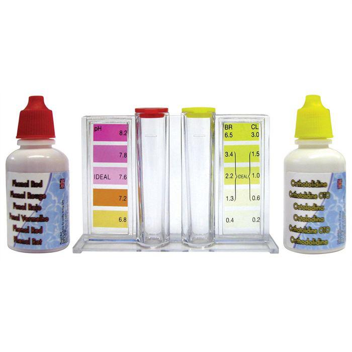 Trousse d'analyse liquide KOKIDO (pH-Chlore) pour piscine
