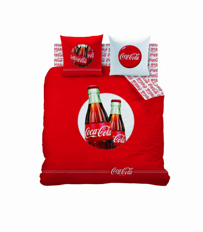 Housse de couette Coca Cola 240 x 220 cm + 2 taies d'oreiller 63 x 63 cm