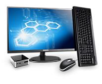 """Mini-PC Medion Akoya S1500 D + Ecran 23"""" Full-HD"""