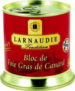 Bloc de foie gras de canard Larnaudie Tradition 200g