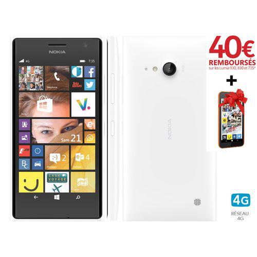 Smartphone Lumia 735 (avec Lumia 530 offert via ODR + 40€)
