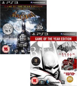 Batman: Arkham City + Arkham Asylum Editions Jeu de l'année (GOTY)  PlayStation 3, Xbox 360