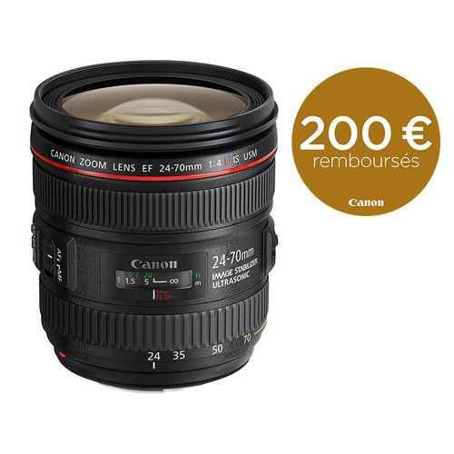 Objectif Canon EF 24 - 70mm f/4L IS USM (avec ODR 200€)