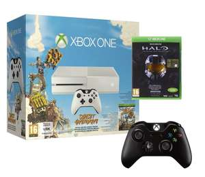 Console XBOX One Blanche + Sunset Overdrive + Halo The Masterchief Collection + Une manette supplémentaire