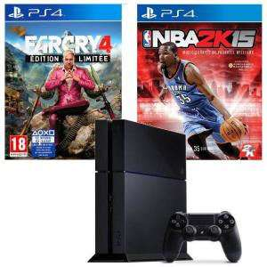 Pack Console PS4 500 Go + NBA 2K15 + Far Cry 4 Limited