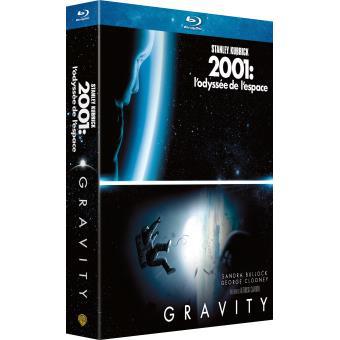 Coffret Blu- ray Gravity + 2001 l'odyssée de l'espace