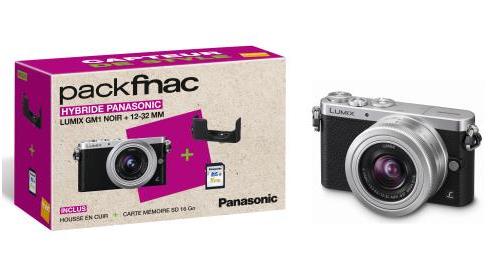 [Adhérent] Appareil photo numérique Panasonic Lumix GM1 Noir + Objectif 12-32 mm + Housse en cuir + Carte mémoire SD 16 Go (avec ODR 100 €)