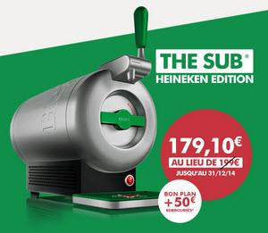 Pompe à bière The Sub Heineken edition - Alu brossé (50€ ODR)