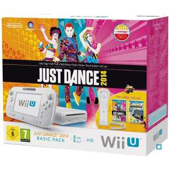 Console Nintendo Wii U Basic Pack Just Dance 2014 + Nintendo Land