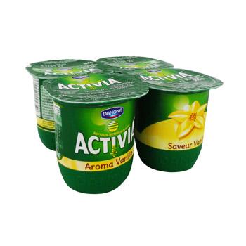 3 x 4 pots Activia Saveur Danone 125 g,  soit 12 pots