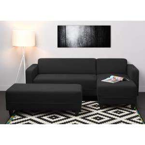 Canapé d'angle Finlandek Firr noir