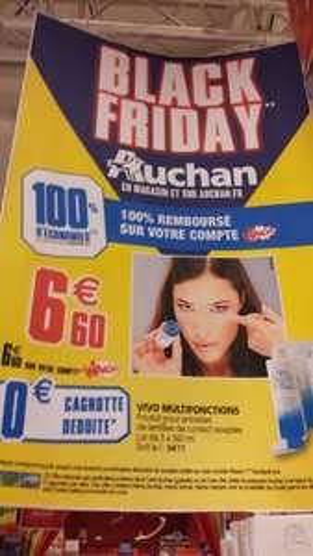 Produit pour entretien de lentilles de contact souples Vivo multifonction 3*360 ml gratuit (100% remboursé sur la carte Waooh)