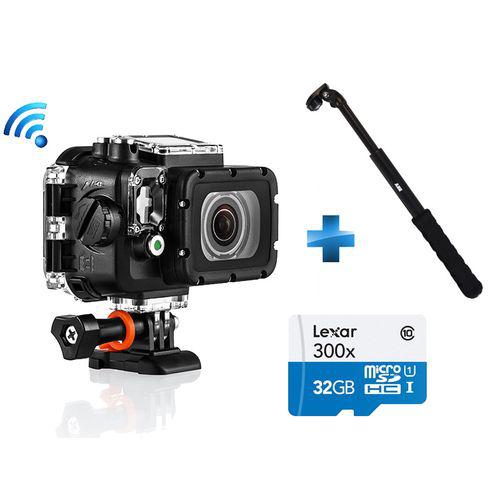 Caméra PNJ AEE S70 Extreme Edition F2 + Perche + Micro SDHC 32Go