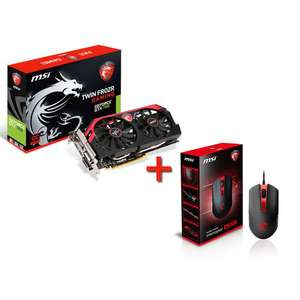 Carte Graphique MSI GeForce GTX 760 Twin Frozr Gaming 2Go + Souris Gaming MSI Interceptor DS100 (+ 110€ en crédit de jeu offert)