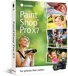 Logiciel Corel PaintShop Pro X7 ou VideoStudio Pro X7 + bonus