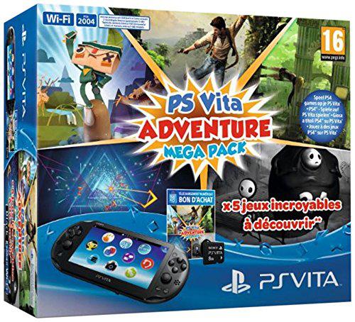 Console PS Vita + 5 jeux (Adventure Games Mega Pack) + carte mémoire 8 Go