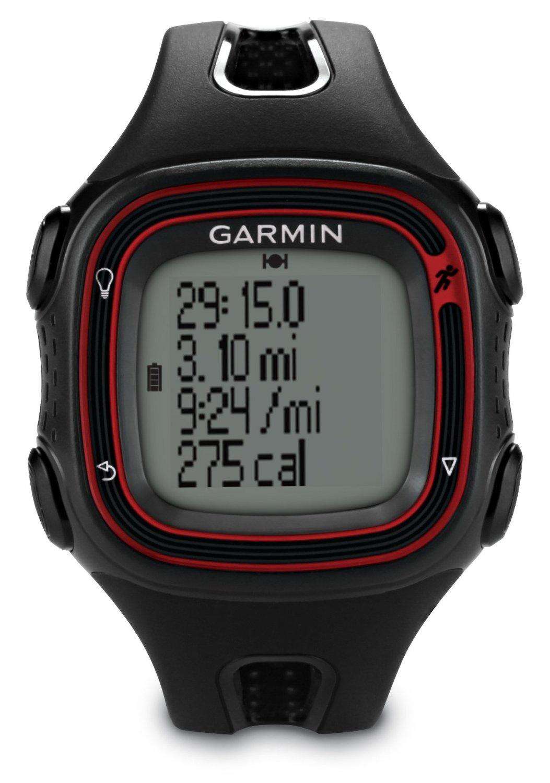Montre de running avec GPS intégré  Garmin Forerunner 10 Noir/Rouge