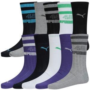 Lot de 10 paires de chaussettes Puma - (Noir, Gris, Violet, Blanc...)