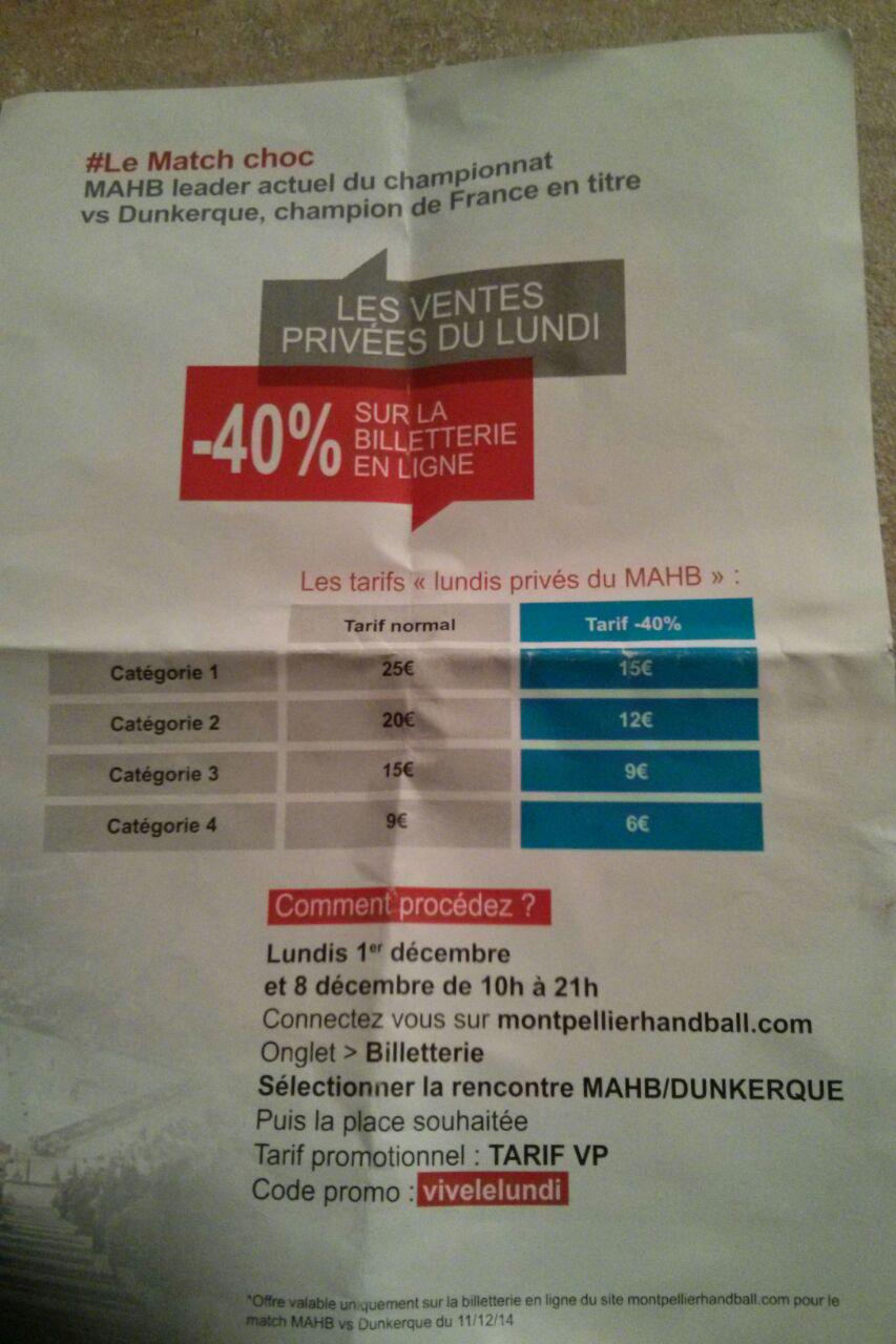40% de réduction sur le match Mahb / Dunkerque