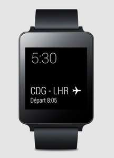Montre connectée LG G Watch (noir titane)