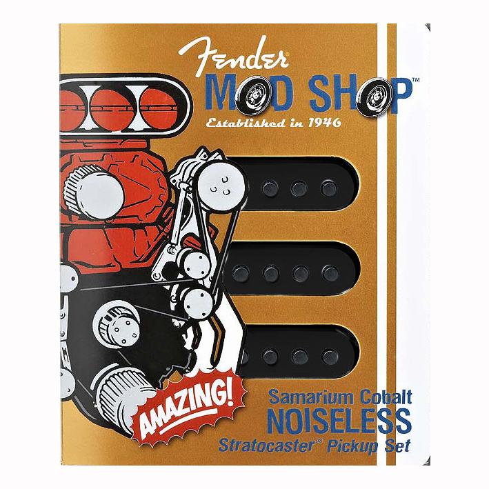 set 3 micros stratocaster Fender scn noiseless (noir)