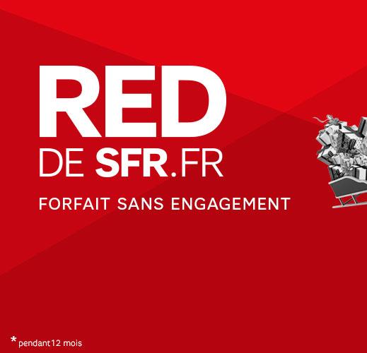 Forfait Red SFR 3Go en 4G - Appels,SMS&MMS Illimités sans engagement par mois