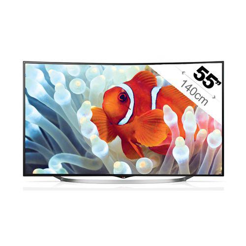 """TV 55"""" LG 55UC970V 3D - 4K - Ecran incurvé (Avec 300€ d'ODR)"""