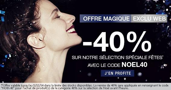 -40% sur une sélection de vêtements mode Femme/Homme/Enfant/Bébé/Lingerie