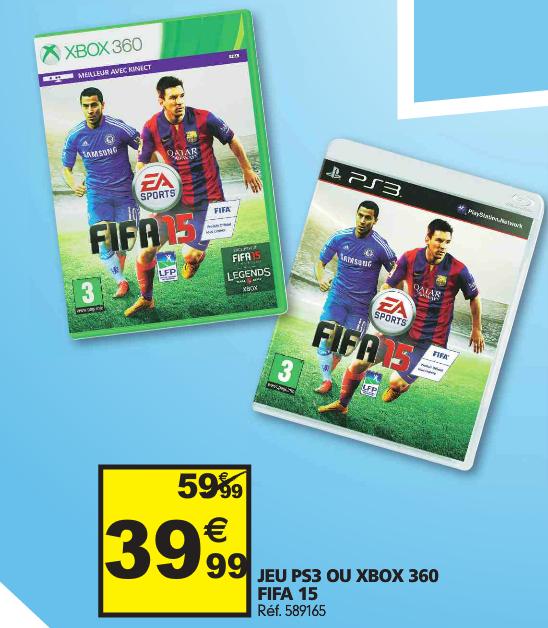 Jeu Fifa 15 sur PS3 ou XBOX 360