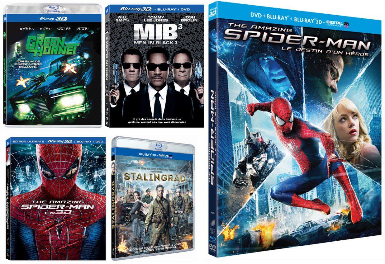 [Précommande] Coffret Blu-ray 3D - 5 Films (ex: Amazing Spider-Man)