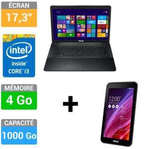 "PC Portable Asus  X751LA-TY027H + Asus MeMO Pad 7"" ME70CX-1A005A"