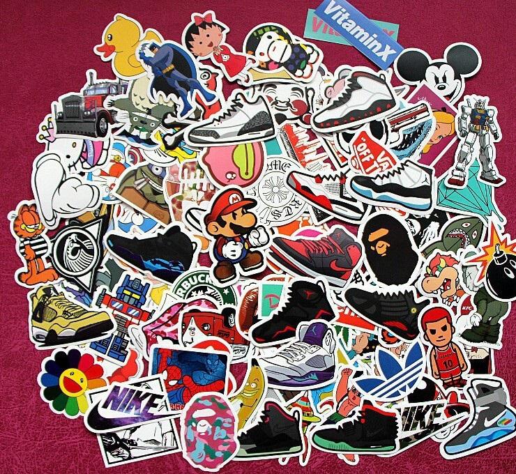 Divers lots de Stickers waterproof pour décoration (lots de 50-100-200-300-400-500)