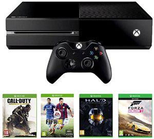 Console Xbox One + 4 jeux dématérialisés : Call of Duty Advanced Warfare + Fifa 15 + Halo + Forza Horizon 2