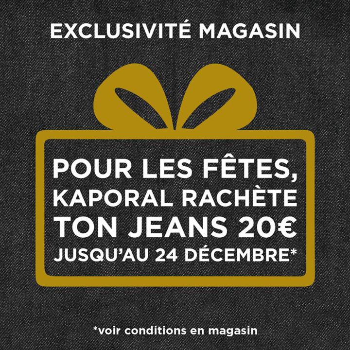 20€ de réduction immédiate sur votre nouveau jeans si vous rapportez un ancien jeans