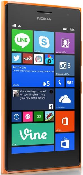 Smartphone Nokia Lumia 735 vert ou orange (avec ODR 40€ + Nokia lumia 530 offert)
