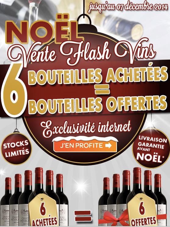 Vin : 6 bouteilles achetées, 6 bouteilles offertes