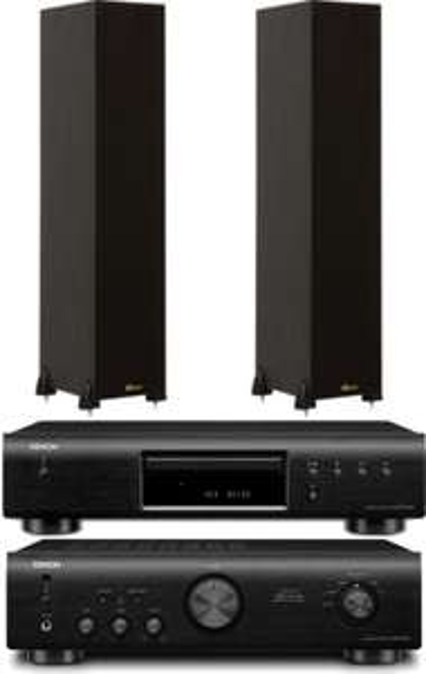 Paire d'enceinte colonne Davis Hera 100 + Platine CD Denon DCD520 + Ampli Denon PMA520 noir