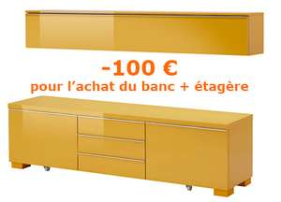 [Ikea Family] Etagère et un banc TV Besta Burs