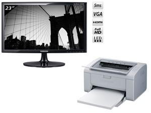 """Une Imprimante laser monochrome offerte pour l'achat d'un moniteur 23"""" Samsung"""