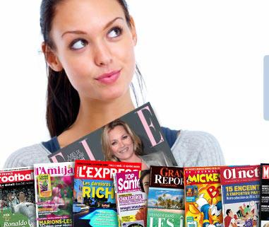30% de réduction supplémentaire sur les magazines  (Ex : GQ à 16€ ; Parents à 16€ ; Tele 7jours à 28€)