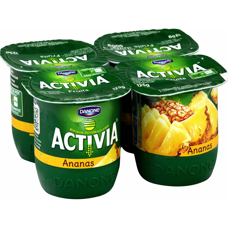 2 x 4 pots de Yaourt Activia Fruits Danone 125 g
