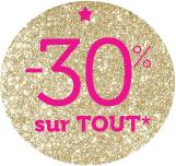 30% de réduction sur les collections  Automne Hiver 2014-2015