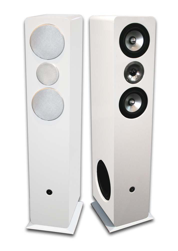 Paire d'enceintes colonne Mosscade Pack HD-T105 Blanc