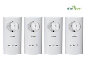 Pack de 4 CPL Homeplug AV 200Mbps prise intégrée - DHP-P307AV_X4