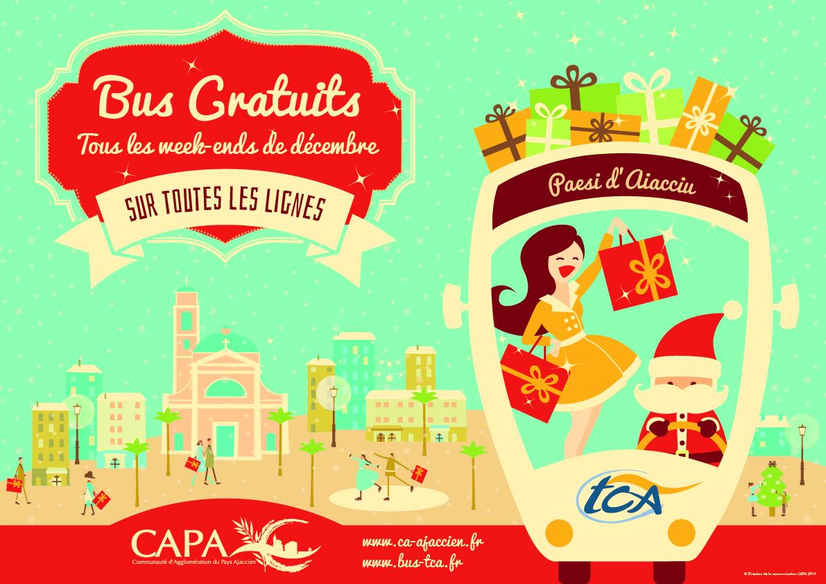 Bus gratuits les week-ends de Décembre