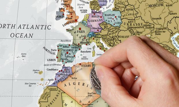 """Carte du monde """"Scratch"""" (à gratter)"""