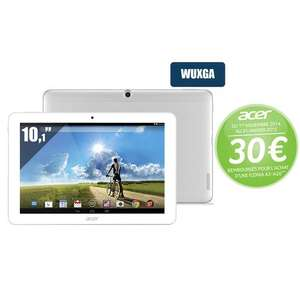 Tablette Android 10,1'' Acer Iconia Tab A3-A20 Full HD 32Go (avec ODR 30€)