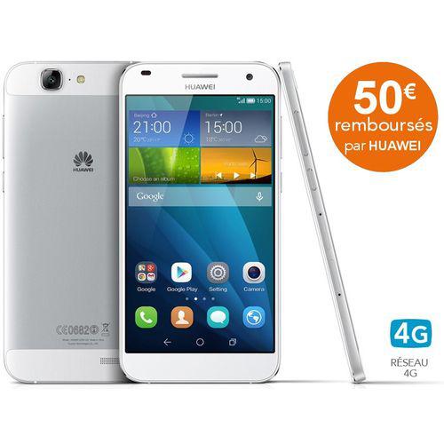 Smartphone Huawei Ascend G7 - Blanc (avec ODR 50€)