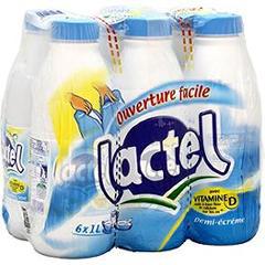 Pack de lait Lactel demi-écrémé vitamine D - 6 x 1 L (avec 50% sur la carte fidélité)