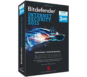 Antivirus Bitdefender Internet Security 2015 (3 postes, 2 ans)
